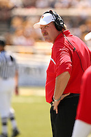 Illinois State Redbirds Head Coach Denver Johnson watches from the sidelines at Memorial Stadium in Columbia, Missouri on September 22, 2007. The Tigers won 38-17.
