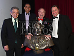 Artist Yoram Drori presents Mayor of Drogheda Frank Godfrey with a bust of himself at the Lord Mayor's show. Also in photo Turkish Ambassador H E Levent Murat Borham and centre manager Declan Power. Photo:Colin Bell/pressphotos.ie
