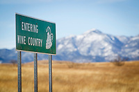 1/2/2011- A sign welcomes visitors to Arizona's Wine Country in Sonoita, Arizona. (Photo by Pat Shannahan)
