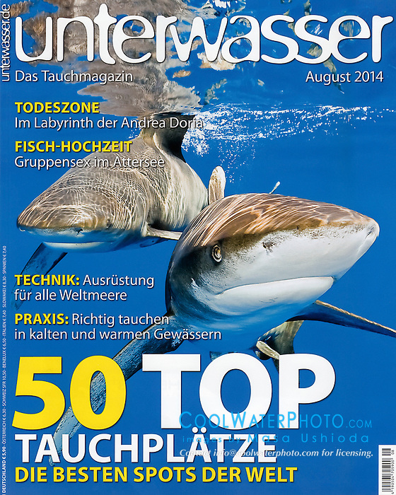 Unterwasser Magazine, August 2014, cover use, Germany