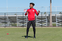 Lakewood Ranch, FL - Sunday Jan. 07, 2018: Chris Gloster during an U-19 USMNT training session at Premier Sports Campus in Lakewood Ranch, FL.