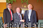 Tim Buckley after being named the new Chairman of Kerry County Council at the meeting on Monday with County Manager Tom Curran (left) and outging manager Pat Leahy (Centre).