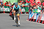 Alexey Lutsenko (KAZ) Astana Pro Team finishes in 2nd place at the end of Stage 18 of the 2017 La Vuelta, running 169km from Suances to Santo Toribio de Li&eacute;bana, Spain. 7th September 2017.<br /> Picture: Unipublic/&copy;photogomezsport | Cyclefile<br /> <br /> <br /> All photos usage must carry mandatory copyright credit (&copy; Cyclefile | Unipublic/&copy;photogomezsport)