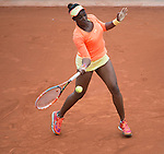 Sloane Stephens (USA) defeats Shua Peng (CHN) 6-4, 7-6(8) at  Roland Garros being played at Stade Roland Garros in Paris, France on May 27, 2014