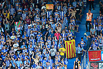 Deportivo Alaves' supporters show catalan independence flags, esteladas, during La Liga match. September 23,2017. (ALTERPHOTOS/Acero)
