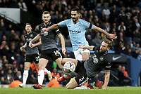 Manchester City's Ilkay Gundogan is tackled by Burnley's Charlie Taylor<br /> <br /> Photographer Rich Linley/CameraSport<br /> <br /> Emirates FA Cup Fourth Round - Manchester City v Burnley - Saturday 26th January 2019 - The Etihad - Manchester<br />  <br /> World Copyright © 2019 CameraSport. All rights reserved. 43 Linden Ave. Countesthorpe. Leicester. England. LE8 5PG - Tel: +44 (0) 116 277 4147 - admin@camerasport.com - www.camerasport.com