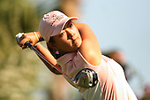 March 25, 2005; Rancho Mirage, CA, USA;  15 year old amateur Michelle Wie tees off during the 2nd round of the LPGA Kraft Nabisco golf tournament held at Mission Hills Country Club.  Wie shot a 2 over par 74 for the day and was tied for 14th at an even par 144.<br />