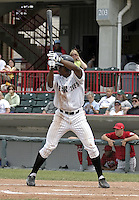 June 6, 2004:  Curtis Granderson of the Erie Seawolves, Eastern League (AA) affiliate of the Detroit Tigers, during a game at Jerry Uht Park in Erie, PA.  Photo by:  Mike Janes/Four Seam Images