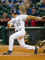 Anthony Rendon #23 of the Rice Owls follows through on his swing against the Kentucky Wildcats at Minute Maid Park on March 4, 2011 in Houston, Texas.  Photo by Brian Westerholt / Four Seam Images