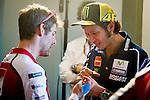 Jerez Circuit. Jerez de la Frontera. 01.05.2014. Press conference prior to the Grand Prix MotoGP Jerez. Valentino Rossi and Cal Crutchlow