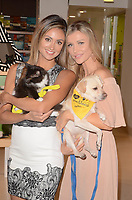 LOS ANGELES, CA - OCTOBER 18: Katie Cleary, Joanna Krupa at a press conference to celebrate the passing of Bill 485 banning the selling of pets in retail outlets at the Healthy Spot in Los Angeles, California on October 18, 2017. Credit: David Edwards/MediaPunch /NortePhoto.com