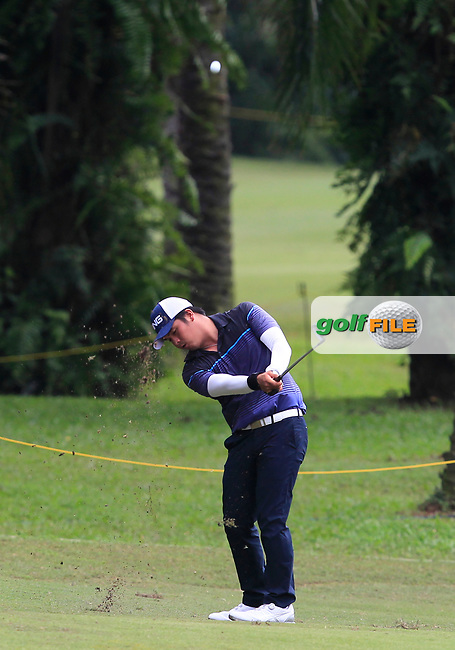 Justin Quiban (PHI) in action on the 6th during Round 1 of the Maybank Championship at the Saujana Golf and Country Club in Kuala Lumpur on Thursday 1st February 2018.<br /> Picture:  Thos Caffrey / www.golffile.ie<br /> <br /> All photo usage must carry mandatory copyright credit (© Golffile | Thos Caffrey)