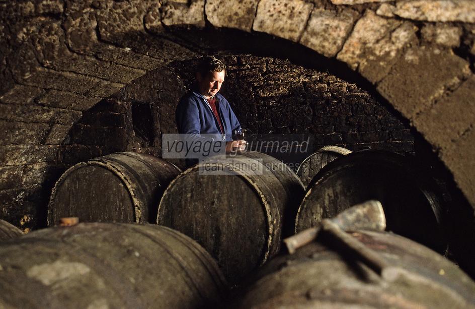 Europe/France/89/Yonne/Saint Bris le Vineux: Joel Griffe viticulteur à Chitry [Non destiné à un usage publicitaire - Not intended for an advertising use]<br /> PHOTO D'ARCHIVES // ARCHIVAL IMAGES<br /> FRANCE 1990