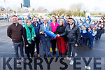 """Students from the Class of 1995/96 ready to open the time capsule at Knockaderry NS Farranfore on Friday. <br /> Standing l to r"""" Tadgh O'Keeffe, Mary Scott, Stephen O'Brien, Fergus Clifford, Aine Daly (Principal), Joanne Casey, Tim Fitzgerald  and Declan Myers"""