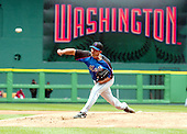 Washington, D.C. - April 3, 2005 -- New York Mets starting pitcher  Victor Zambrano (38) delivers a pitch against the Washington Nationals at RFK Stadium in Washington, D.C. on April 3, 2005..Credit: Ron Sachs / CNP.(RESTRICTION: NO New York or New Jersey Newspapers or newspapers within a 75 mile radius of New York City)