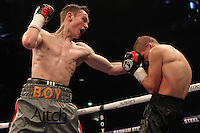 Boy Jones vs Aron Szilagyi during a Boxing show at the Copper Box Arena on 30th April 2016
