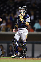 Salt River Rafters catcher Chris O'Dowd (14) during an Arizona Fall League game against the Mesa Solar Sox on October 18, 2014 at Cubs Park in Mesa, Arizona.  Mesa defeated Salt River 8-4.  (Mike Janes/Four Seam Images)