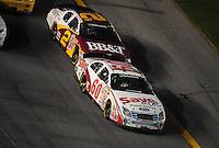 Jul. 4, 2008; Daytona Beach, FL, USA; Nascar Nationwide Series driver Carl Edwards (60) leads Clint Bowyer (2) during the Winn-Dixie 250 at Daytona International Speedway. Mandatory Credit: Mark J. Rebilas-