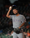 Yu Darvish (Rangers),<br /> AUGUST 9, 2014 - MLB : Yu Darvish of the Texas Rangers during the Major League Baseball game against the Houston Astros at Minute Maid Park in Houston, Texas, USA.<br /> (Photo by AFLO)
