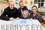 Little Mary Kate Wall enjoying the open night in the Presentation NS on Thursday with her family. <br /> Seated l to r: Mary Kate, Mikey, Janet and Claire Wall