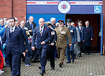 Rangers manager Mark Warburton at the Remembrance ceremony at Ibrox