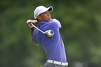 Tiger Woods lets his drive rip during the opening round of the US PGA Championship at Valhalla (Photo: Anthony Powter) Picture: Anthony Powter / www.golffile.ie