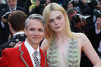 DIRECTOR JOHN CAMERON MITCHELL AND ELLE FANNING - RED CARPET OF THE FILM 'HOW TO TALK TO GIRLS AT PARTIES' AT THE 70TH FESTIVAL OF CANNES 2017 . 21/05/2017, CANNES, FRANCE. # 70EME FESTIVAL DE CANNES - RED CARPET 'HOW TO TALK TO GIRLS AT PARTIES'