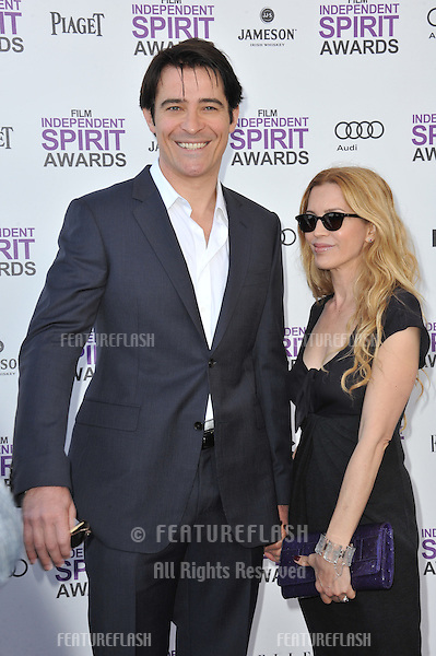 Goran Visnjic & Ivana Vrdoljak at the 2012 Film Independent Spirit Awards on the beach in Santa Monica, CA..February 25, 2012  Santa Monica, CA.Picture: Paul Smith / Featureflash