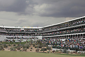 February 2nd 2019, Scottsdale, Arizona, USA; Players tee off in a grandstand atmosphere during the third round of the Waste Management Phoenix Open on February 02, 2019, at TPC Scottsdale in Scottsdale, AZ.