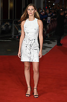 Hermione Corfield at the European premiere for &quot;Pride and Prejudice and Zombies&quot; at the Vue West End, Leicester Square.<br /> February 1, 2016  London, UK<br /> Picture: Steve Vas / Featureflash