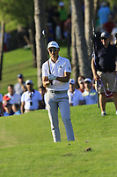 Haotong Li (CHN) prepares to play his 2nd shot on the 17th hole during Sunday's Final Round of the 2018 Turkish Airlines Open hosted by Regnum Carya Golf &amp; Spa Resort, Antalya, Turkey. 4th November 2018.<br /> Picture: Eoin Clarke | Golffile<br /> <br /> <br /> All photos usage must carry mandatory copyright credit (&copy; Golffile | Eoin Clarke)