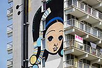 Nederland Amsterdam 2019 . De Bijlmer. Muurschildering van Speto in de H-Buurt. Foto Berlinda van Dam / Hollandse Hoogt
