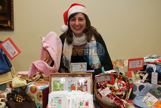 """Ciara Travers from """"Mukky Monkey"""" at the Christmas Craft Fair in The Boyne Valley Hotel...(Photo credit should read Jenny Matthews www.newsfile.ie)....This Picture has been sent you under the conditions enclosed by:.Newsfile Ltd..The Studio,.Millmount Abbey,.Drogheda,.Co Meath..Ireland..Tel: +353(0)41-9871240.Fax: +353(0)41-9871260.GSM: +353(0)86-2500958.email: pictures@newsfile.ie.www.newsfile.ie."""