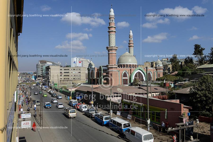 ETHIOPIA, Addis Ababa, Al-Noor Mosque / AETHIOPIEN, Addis Abeba, Al-Noor Moschee
