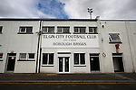 Elgin City 3 Edinburgh City 0, 13/08/2016. Borough Briggs, Scottish League Two. An exterior view of Borough Briggs, home to Elgin City, on the day they played SPFL2 newcomers Edinburgh City. Elgin City were a former Highland League club who were elected to the Scottish League in 2000, whereas Edinburgh City became the first club to gain promotion to the League by winning the Lowland League title and subsequent play-off matches in 2015-16. This match, Edinburgh City's first away Scottish League match since 1949, ended in a 3-0 defeat, watched by a crowd of 610. Photo by Colin McPherson.