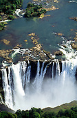 Victoria Falls, Zambia to Zimbabwe border. The Falls from above.