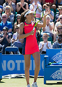 June 15th 2017, Nottingham, England; WTA Aegon Nottingham Open Tennis Tournament day 6;  Johanna Konta of Great Britain acknowledges the applause of the crowd after her two sets to love victory over Yanina Wickmayer of Belgium on centre court