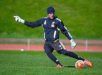 Lewis Italiano in action during the Wellington Phoenix training at Newtown Park, Wellington, New Zealand on Friday, 11 September 2015. Photo: Dave Lintott / lintottphoto.co.nz