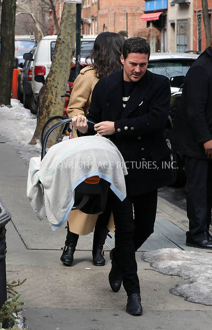 WWW.ACEPIXS.COM<br /> <br /> February 26 2015, New York City<br /> <br /> Liv Tyler and Dave Gardner bring their baby boy Sailor home to the Wrest Village for the first time on February 26 2015 in New York City<br /> <br /> By Line: Zelig Shaul/ACE Pictures<br /> <br /> <br /> ACE Pictures, Inc.<br /> tel: 646 769 0430<br /> Email: info@acepixs.com<br /> www.acepixs.com