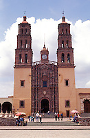 The Parroquia de Nuestra Senora de Dolores in the town of Dolores Hidalgo, Mexico. Parish priest Miguel Hidalgo issued the Grito de Independencia at this church on september 16, 1810.