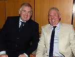 FrankCurran and Pat Cooney at the Captain's dinner at Seapoint Golf Club. Photo:Colin Bell/pressphotos.ie