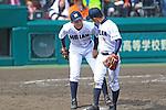 Reiji Motouji (Ryukoku-Dai Heian),<br /> APRIL 2, 2014 - Baseball :<br /> 86th National High School Baseball Invitational Tournament final game between Ryukoku-Dai Heian 6-2 Riseisha at Koshien Stadium in Hyogo, Japan. (Photo by Katsuro Okazawa/AFLO)