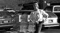 John Dallahan working as an Alpha Beta shopping cart boy, 1987.  &amp;#xA;<br />