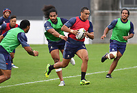 Leivaha Pulu, <br /> Vodafone Warriors training session. Mt Smart Stadium, Auckland, New Zealand. NRL Rugby League. Tuesday 13 March 2018 &copy; Copyright photo: Andrew Cornaga / www.photosport.nz