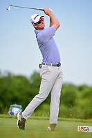 Justin Rose (GBR) watches his tee shot on 13 during Friday's round 2 of the 117th U.S. Open, at Erin Hills, Erin, Wisconsin. 6/16/2017.<br /> Picture: Golffile | Ken Murray<br /> <br /> <br /> All photo usage must carry mandatory copyright credit (&copy; Golffile | Ken Murray)