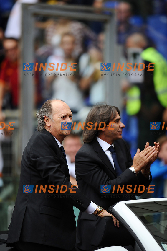Paulo Roberto Falcao e Bruno Conti..Hall of Fame AS Roma.07/10/2012 Roma.Stadio Olimpico.Football Calcio 2012 / 2013 .Campionato di Calcio Serie A.Roma vs Atalanta 2-0.Foto Insidefoto / Antonietta Baldassarre.