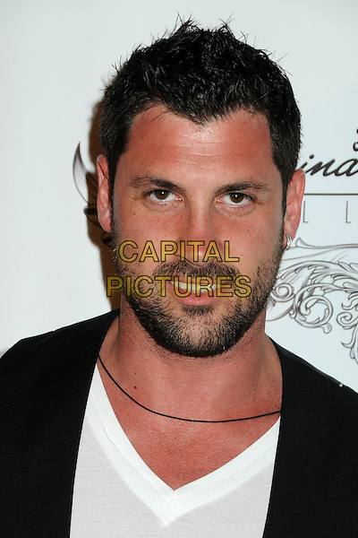 MAKSIM CHMERKOVSKIY. 4th Annual Sports Dream Celebrity Poker and Pool Party Celebrating the 2010 ESPY Awards held at the Playboy Mansion, Beverly Hills, California, USA..July 12th, 2010.headshot portrait black white beard facial hair .CAP/ADM/BP.©Byron Purvis/AdMedia/Capital Pictures.