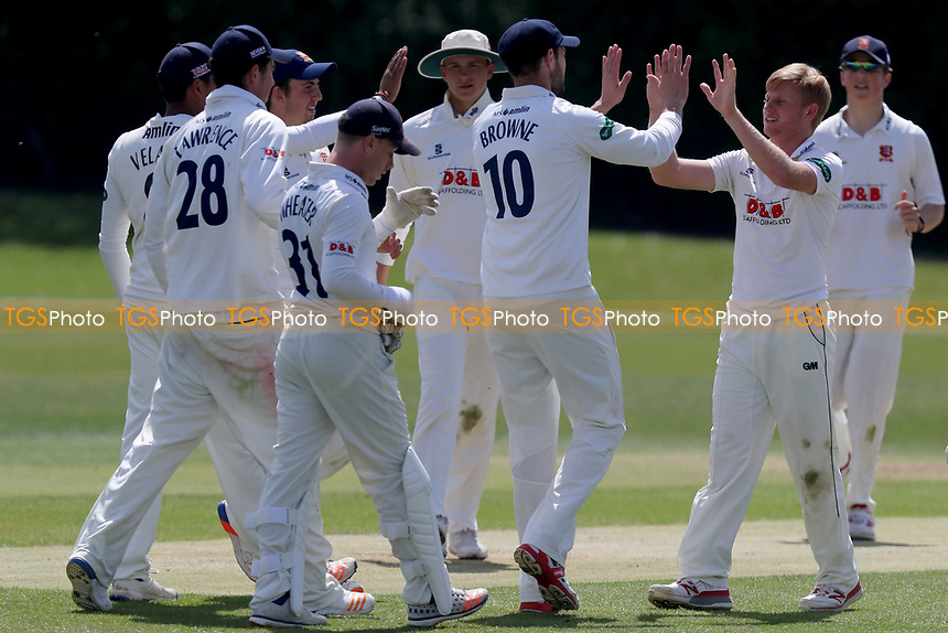 Callum Taylor celebrates taking a wicket during Essex CCC 2nd XI vs Surrey CCC 2nd XI, Second XI Championship Cricket at Billericay Cricket Club on 16th May 2017