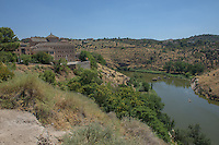 Spain, Toledo. A UNESCO World Heritage Site 70 K south of Madrid. Once home to Christian, Muslim and Jewish cultures. River.