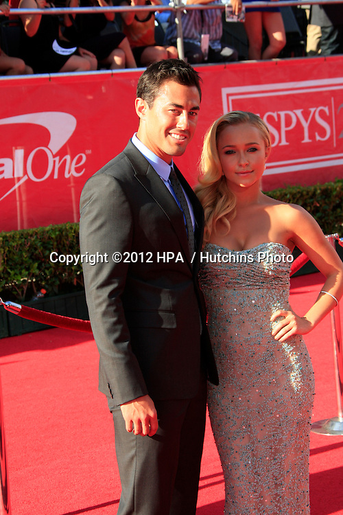 LOS ANGELES - JUL 11:  Scotty McKnight, Hayden Panettiere arrives at the 2012 ESPY Awards at Nokia Theater at LA Live on July 11, 2012 in Los Angeles, CA